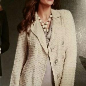 Cabi chenille cream jacket size S never worn!